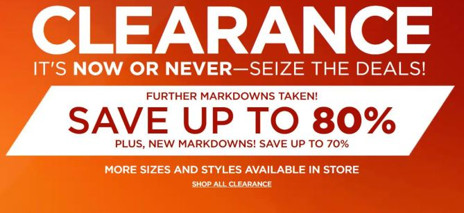 7ed06d58a Kohl s - Clearance Up To 80% Off + Up To 40% Off Coupon Code  Today ...