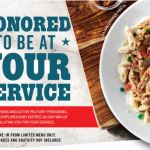 Chili's Grill & Bar Restaurants – Veterans and Active Military Receive A Free Meal On Veterans Day