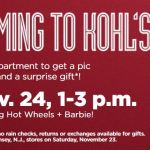Free Photo With Santa & Surprise Gift At Kohl's Sunday November 24th