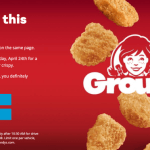 Wendy's FREE 4-Piece Chicken Nuggets Today