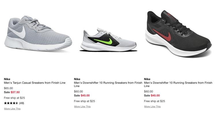 Nike Men's Running Shoes as low as $25