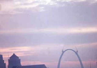 The Arch being built
