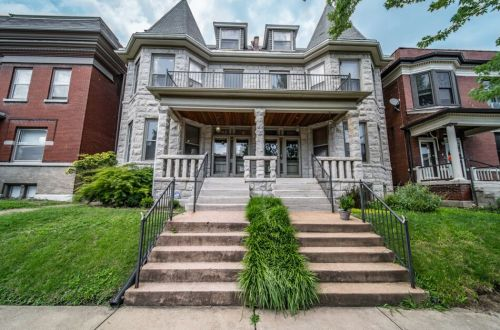 2.5 Story Stone-Front Townhome   4143 Botanical Avenue