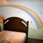 rainbow,sun mural painting