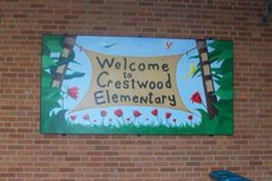 crestwood elementary school sign painting