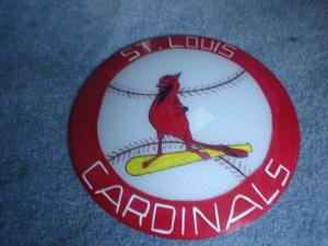 stl cardinals hand painted light shade