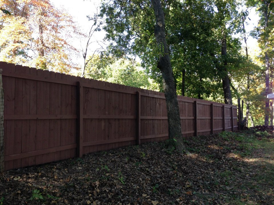 st. louis fence staining company