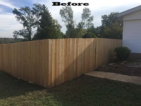 St. Louis fence staining