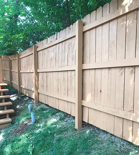 crestwood fence staining