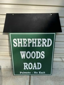 road sign painting