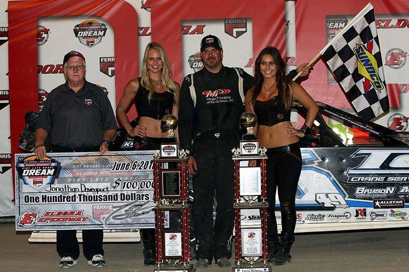 Jonathan Davenport wins The Dream after Scott Bloomquist fails to make weight!