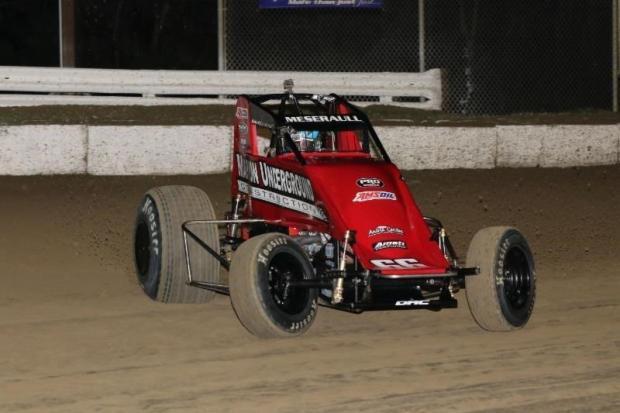"Thomas Meseraull of San Jose, California won Saturday night's ""Winter Dirt Games VII"" finale at Bubba Raceway Park in Ocala, Florida. (Michael Fry Photo)"