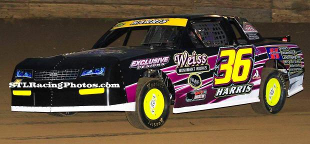 Eric Harris at Belle-Clair Speedway on March 18th, 2016.