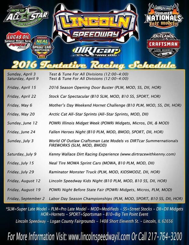 2016LincolnSchedule2016