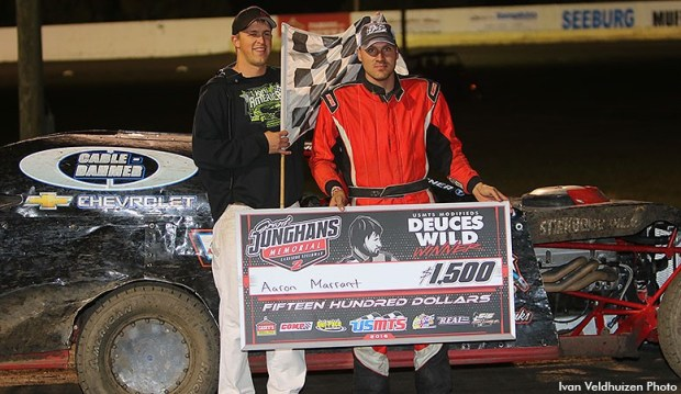 Aaron Marrant won the second 25-lap main event.
