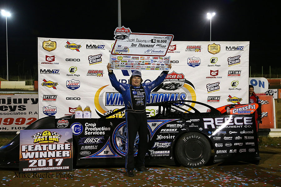 Bloomquist Holds On to Win at East Bay Raceway Park