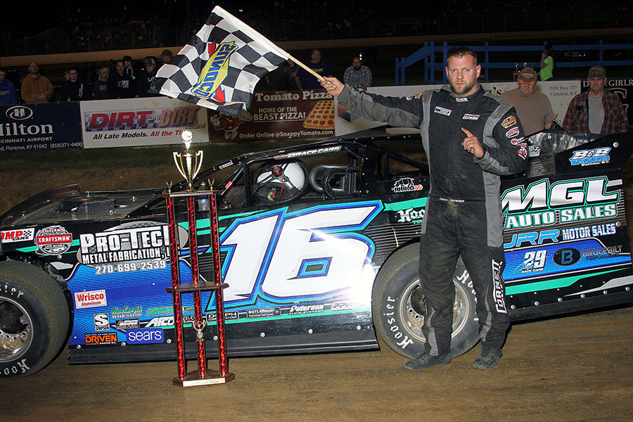 Jason Jameson over Bobby Pierce for Spring 50 win at Florence Speedway!