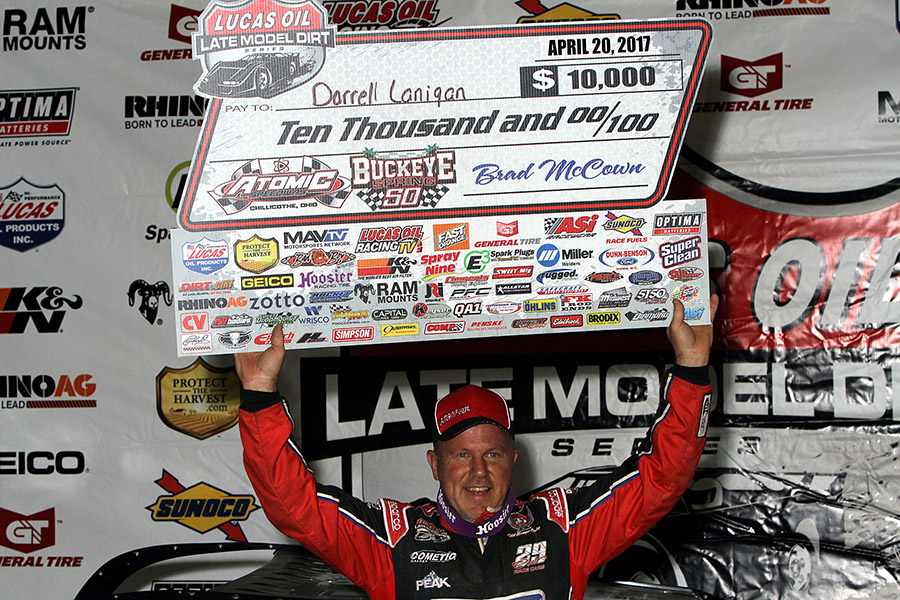 Lanigan Passes O'Neal on the Final Lap to Win at Atomic