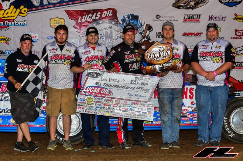 "Pearson wins ""Cowboy Classic"" as Silver Anniversary Show-Me 100 weekend gets started"