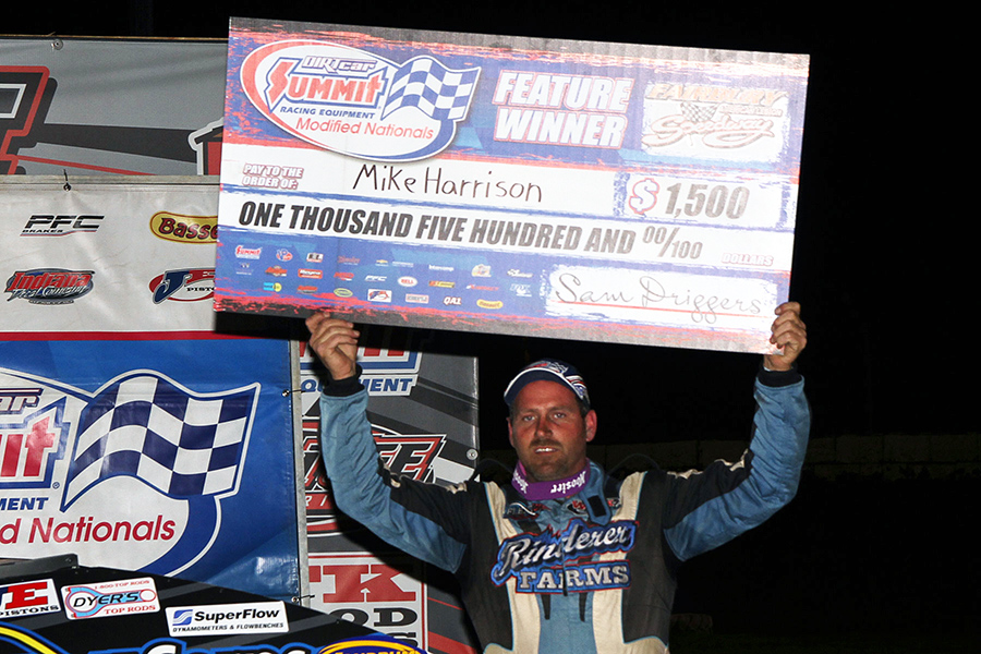 Mike Harrison wins Summit Modified Nationals at Fairbury Speedway!