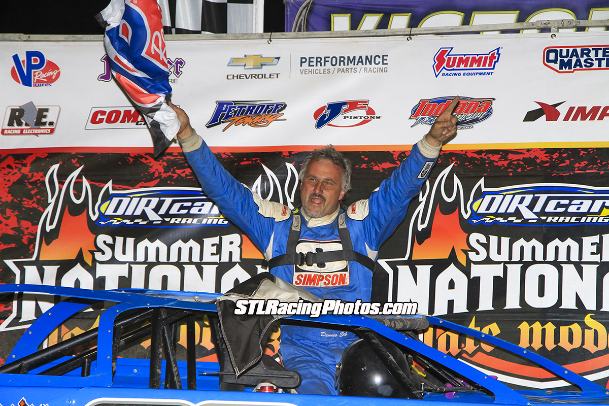 Dennis Erb, Jr. with dramatic pass on final lap to win Tri-City Speedway's UMP DIRTcar Summer Nationals!