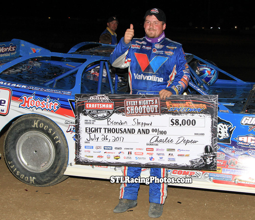 Brandon Sheppard takes Fayette County Speedway WoO Late Model win!