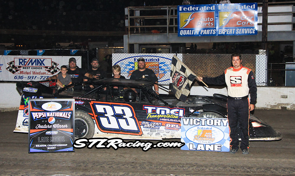 Tim Manville, Michael Long, Robbie Eilers, Troy Medley & Drew Dudash take wins at Federated Auto Parts Raceway at I-55!