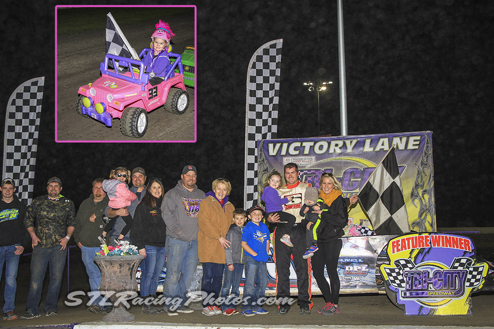 Father/Daughter Manville duo double up at Tri-City Speedway's season opener!