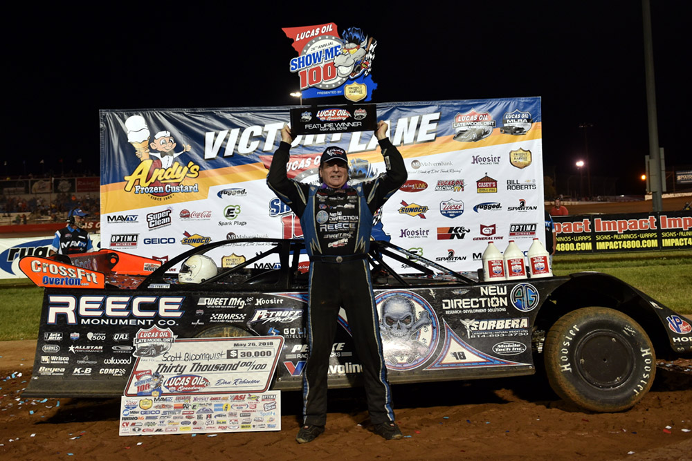 Bloomquist solves Lucas Oil Speedway puzzle with sixth Show-Me 100 victory