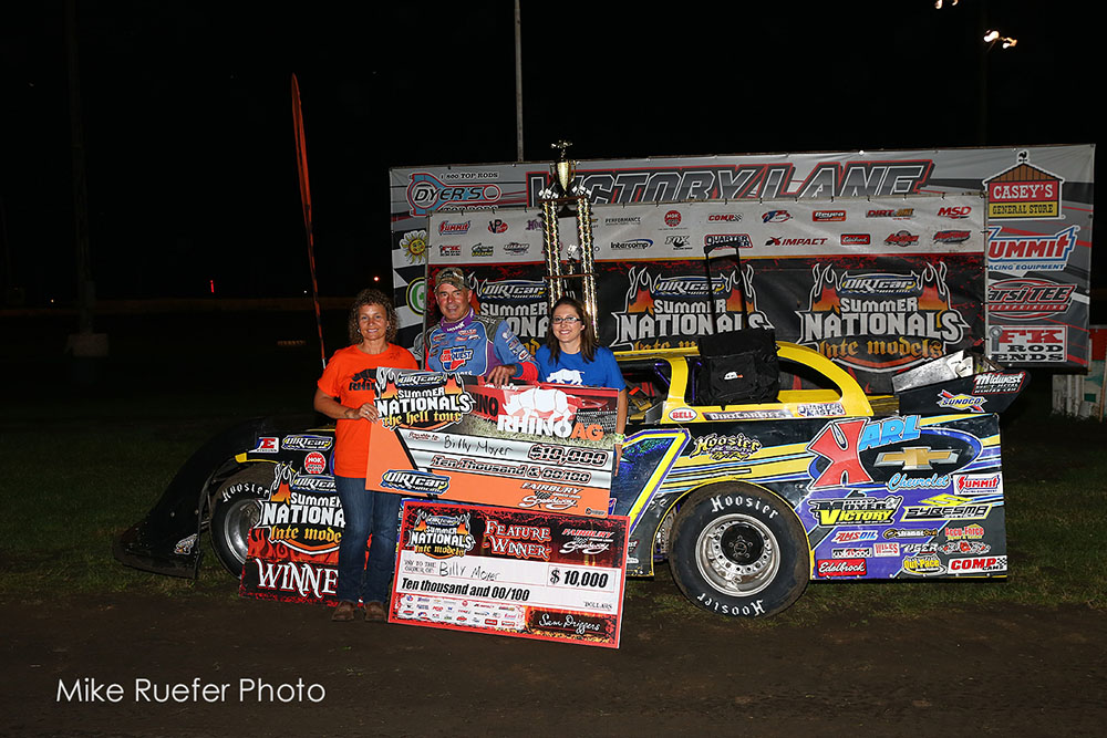 Billy Moyer takes Fairbury Summer Nationals win; Mike McKinney takes Summit Modified win!