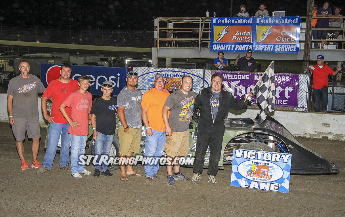 Dave Armstrong, Rusty Griffaw, Trey Harris, Gary Haynes & Morgan Greene take wins at Federated Auto Parts Raceway at I-55!