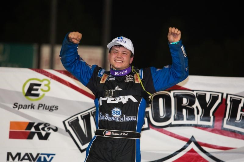 Hudson O'Neal Earns First Lucas Oil Win