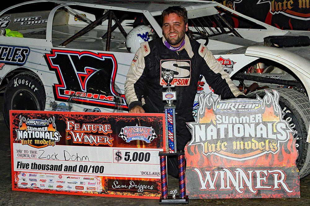 Zack Dohm claims Oakshade Raceway's UMP DIRTcar Summer Nationals win!