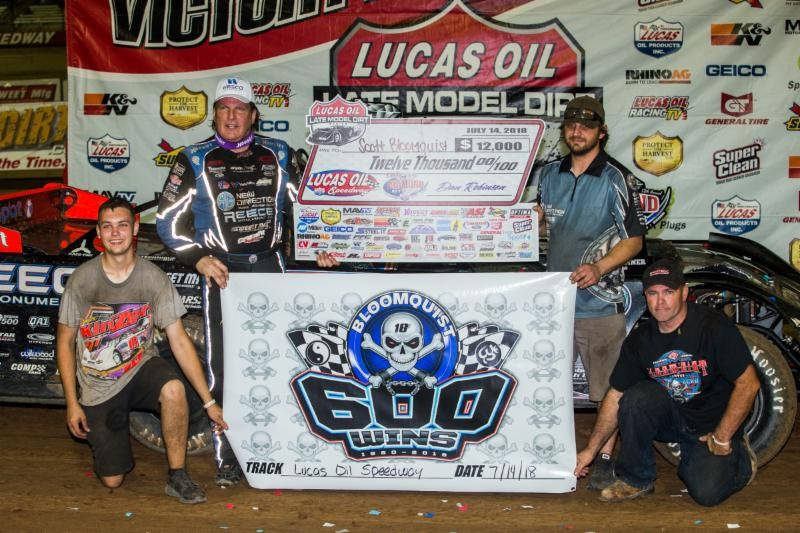 Bloomquist Celebrates 600th Career Victory