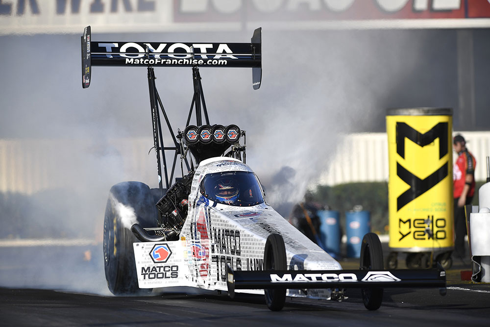 Three-time NHRA world champion Antron Brown has four consecutive AAA Insurance NHRA Midwest Nationals wins at Gateway Motorsports Park