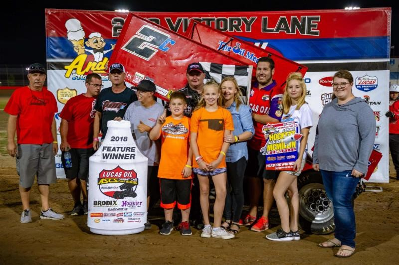 Johnson, Richards capture opening-night Hockett/McMillin Memorial feature wins at Lucas Oil Speedway