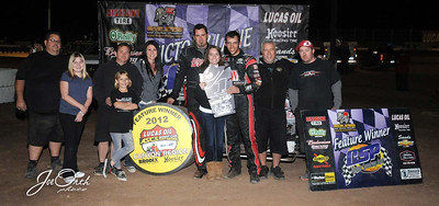 Wayne Johnson and Bryan Clauson were the best with tires en-route to victory at the 45 FVP Western World Championships. Photo Credit: Joe Orth.