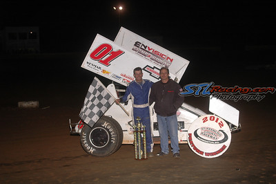 2012 Queen's Royale winner Tim Montgomery  with car owner Donnie Cooper - Kirby Laws Photo