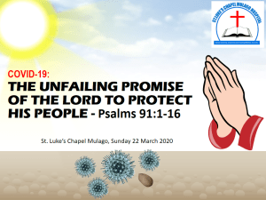 #COVID-19: The Unfailing Promise of the Lord to Protect His People