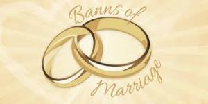 Banns of Marriage!