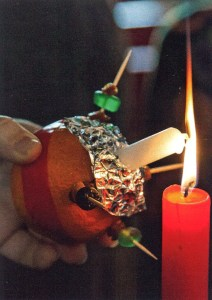 Lighting a Christingle