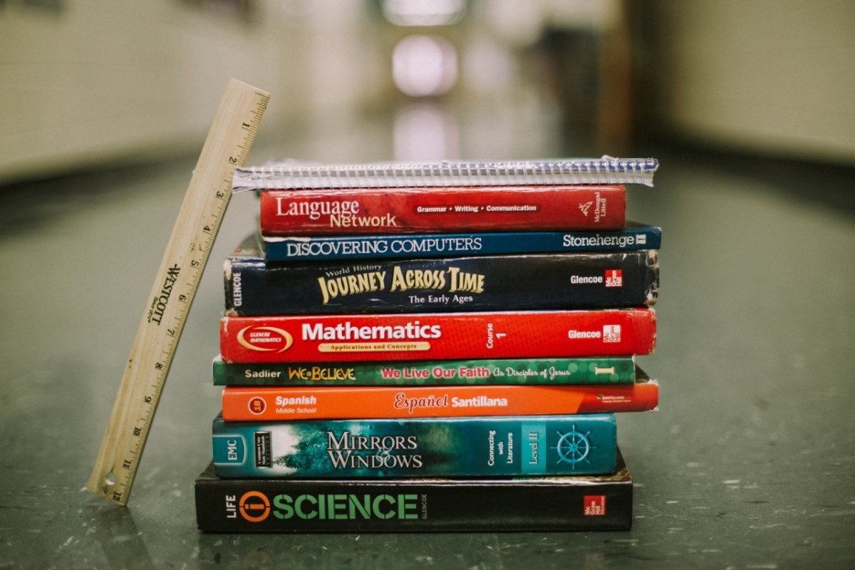 Stacked Text Books