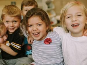 Preschool Friends Laughing