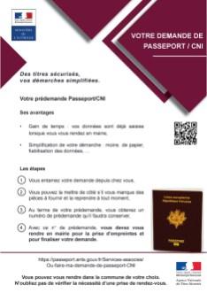 Affiche Pré-demande passeport-CNI