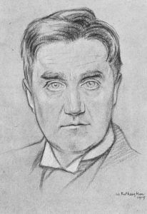 Portrait of the composer Ralph Vaughan Williams by William Rothenstein