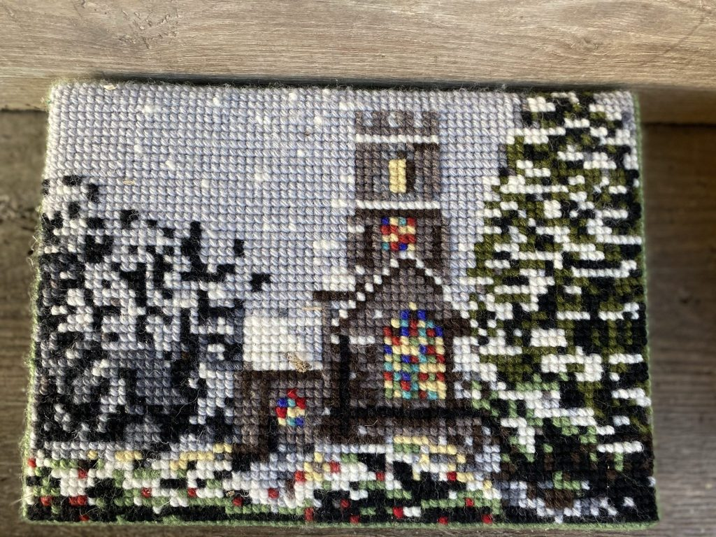 Winter Church Donated by Griston PCC & sewn by Sue Murphy
