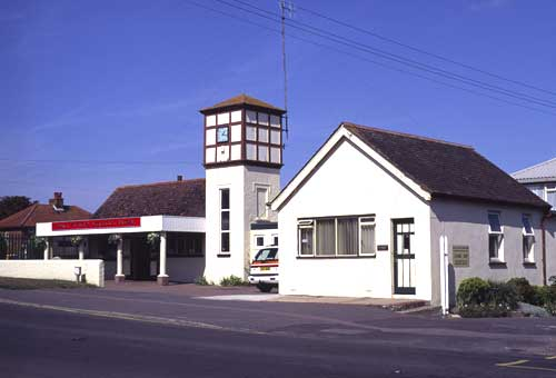 The exterior of New Romney station. This was originally the south westerly terminus before the extension to Dungeness was built.