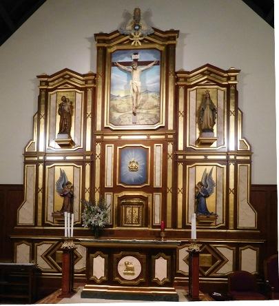 Church Dedication & Retablo – St  Mary's by the Sea Roman