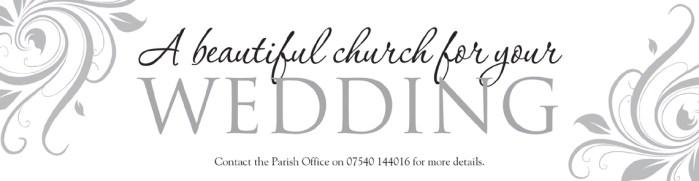 Wedding banner for Saint Mary's Church