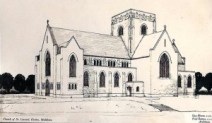 Architects drawing of St Mary's